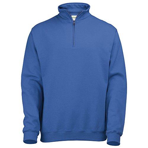 AWDis Hoods Sophomore ¼ zip sweatshirt Royal XL