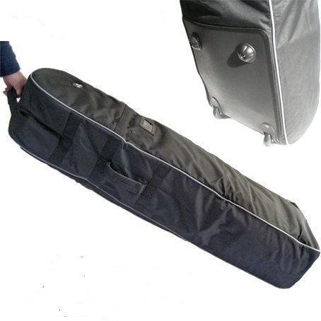 A99 T07 Golf Travel Bag Cover Wheel Rolling New Black With Grey Piping (Cover Bag Travel Golf Roller)