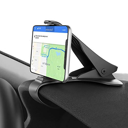 Car Phone Mount, Hzrfun Cell Phone Holder for Car Dashboard Clip Non-Slip Durable Compatible with iPhone Xs Max/XR/XS/X/8 Plus/8/7 Plus/7 Samsung Galaxy S10/S9/S8 and More