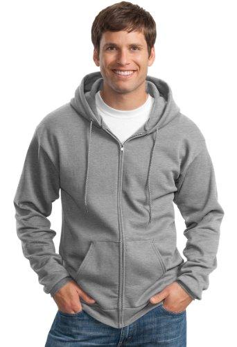 50 Fleece Hooded Sweatshirt - Port & Company Men's Classic Full Zip Hooded Sweatshirt M Athletic Heather