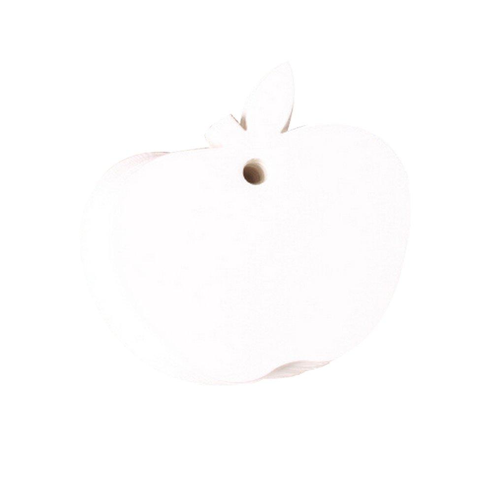 cosanter 100x Mignon forma di mela etichetta di regalo Tag prezzo DIY vuoto carte di messaggio per regalo Bagaglio mariage-non compresa la corda 6 X 6CM bianco