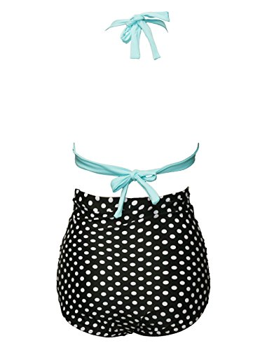 Bslingerie - Conjunto - para mujer Blue Top Spotted Bottom