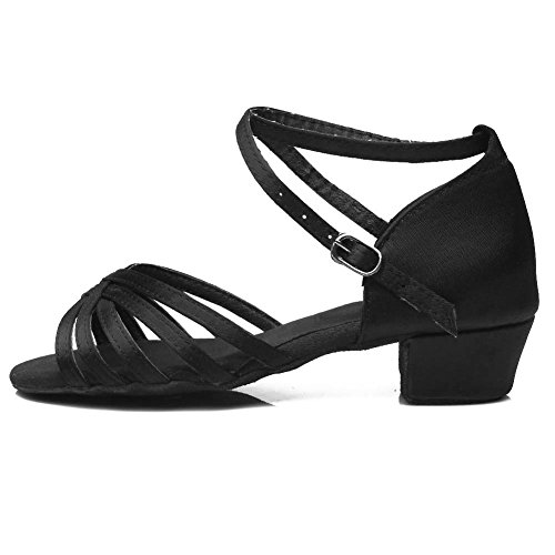 Black Swdzm Model Girl De Danse 202 Chaussures Latine Ballroom gxU8Sq7w
