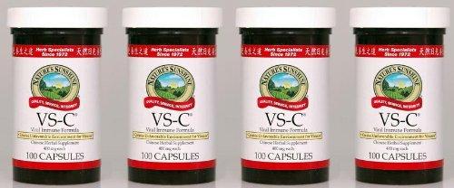 Naturessunshine VS-C поддерживает иммунную систему китайская травяная добавка 100 капсул (упаковка 4)