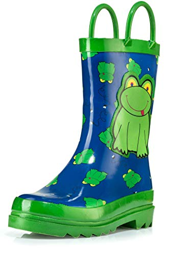Little Boys Green Frog Rain Boots Size 11/12