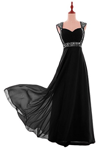 Besswedding Robe De Bal Perles En Mousseline De Soie 2016 Robes Longues Pour Les Femmes Formelles De Costume: