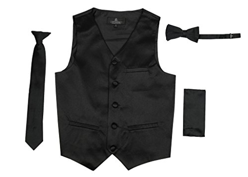 Tuxedo Vest Lime Satin - 3
