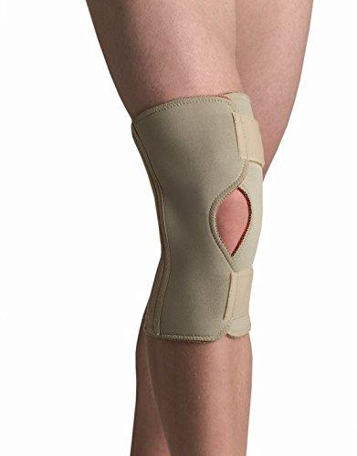 Thermoskin Open Knee Wrap Stabilizer Knee Brace, Beige, 4X-Large