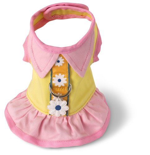 Doggles Dog Harness Dress, Yellow, XX Smalll