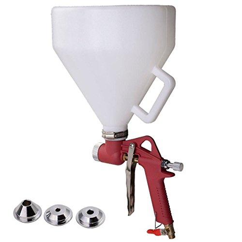 MOTOOS 1.45 Gallon Air Hopper Spray Gun Paint Texture Drywall Wall Painting Sprayer w/3 Nozzles