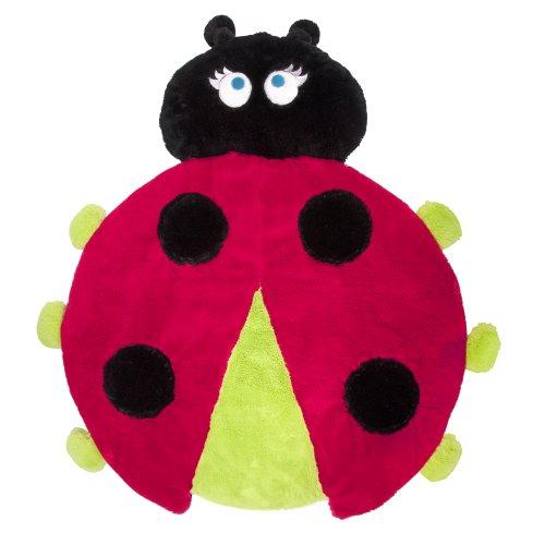 Sozo Unisex-Baby Newborn Ladybug Cuddle Mat, Red/Black, 0-4T