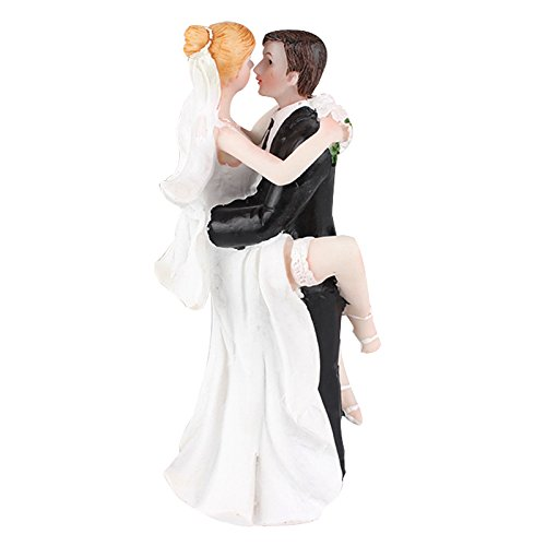 TOOGOO(R) Funny Sexy Wedding Cake Topper with Bride and Groom | Fun, Sexy, Humorous Figurine 6.5515CM ()