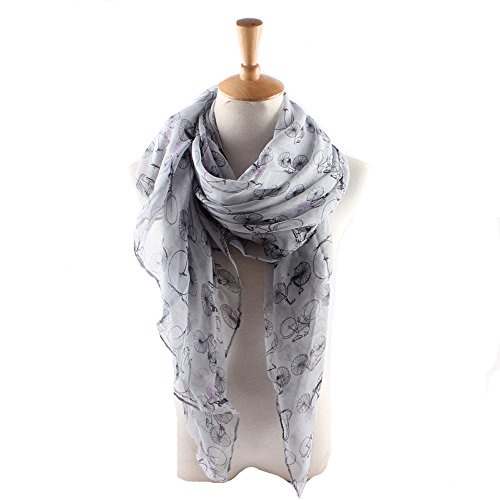 ctshow bicycle Print Voile Print Scarf Fashionable Women Scarves shawl -
