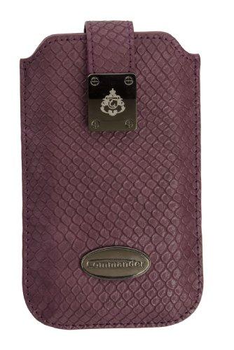 Commander 12291 Milano Case für Apple iPhone 3G/3GS/4/4S Größe M Snake dunkellila