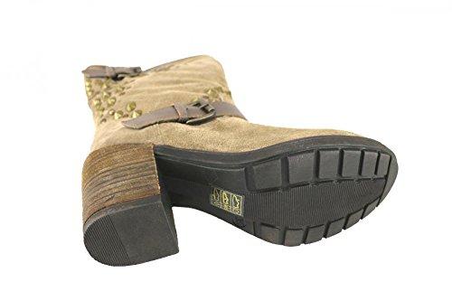 Schuhe Damen KEYS Stiefeletten beige Wildleder AJ122
