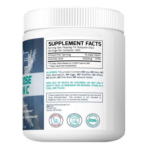MEGA-DOSE Vitamin C by Dr. Farrah World Renown Medical Doctor | High-Impact Antioxidant | Active Immune System Support | Enhances Skin, Bone, Tissue Health