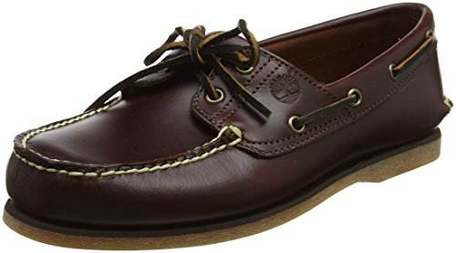 Timberland Men's Classic 2-Eye Boat Shoe, Rootbeer/Brown, 9.5 W