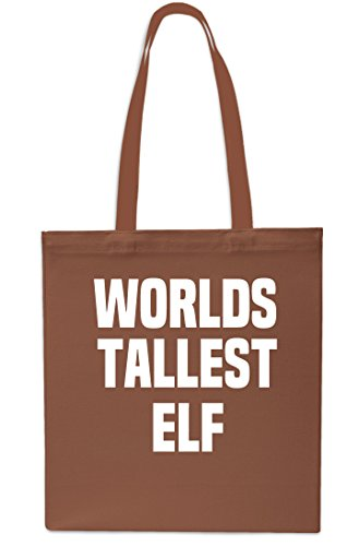 x38cm Elf Red Bag Beach Christmas Worlds Tote 10 Gym Shopping litres Chestnut 42cm Tallest z455qWc7