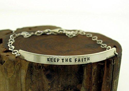 Keep The Faith, sterling silver ID bracelet