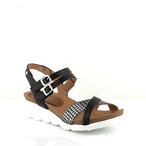 Felmini - Zapatos para Mujer - Enamorarse com Dorini A141 - Sandalias de cuña - Cuero Genuino - Varios colores Varios colores