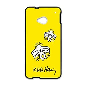 Canting_Good Custom Painted ZQ Keith Haring Yellow Case for HTC ONE M7