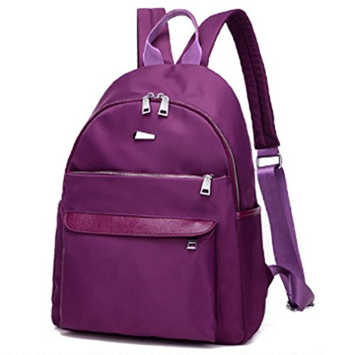 Damas bandoleras,bolso de la lona,mochilas-Púrpura pequeña