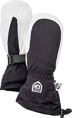 Hestra Heli Ski Womens Glove - Classic Leather Snow Mitten for Skiing and Mountaineering with Women's Fit