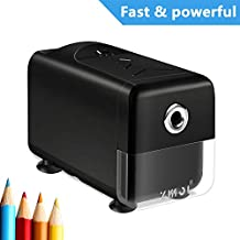 Electric Pencil Sharpener,Heavy Duty Helical Blade and Auto-Stop Feature,Electric Pencil Sharpener for Kids,Students and Artists,Suitable for NO. 2/Colored Pencils,Classroom,Office,Home Use