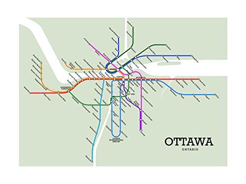 Ottawa Subway Map.Amazon Com Ottawa Subway Map Handmade