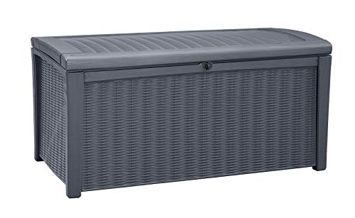 Keter 243549 Borneo 110 Gallon Deck Box, 4.7×4.7×16.3 inch, Grey