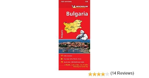 Mapa National Bulgaria (Mapas National Michelin): Amazon.es ...
