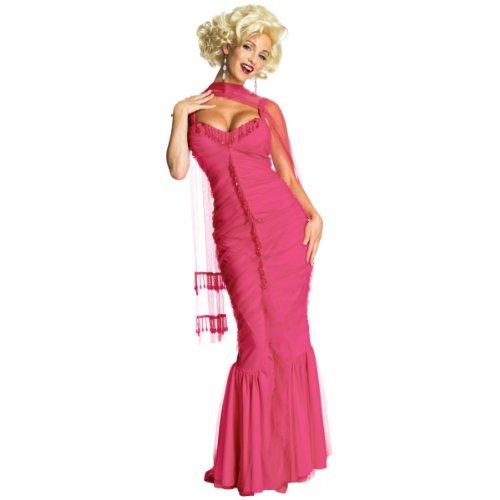 Secret Wishes Womens Marilyn Monroe Dress, Pink, Large