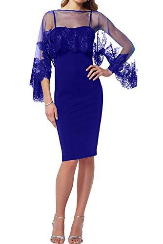 Herrlich Ballkleider Lila Royal Knielang Blau Abendkleider La Braut Promkleider Festlichkleider Partykleider mia Etui Kurz Spitze 01qEEg