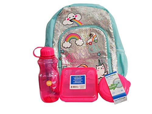 Accessories 22 sequin unicorn unikitty rainbow backpack set