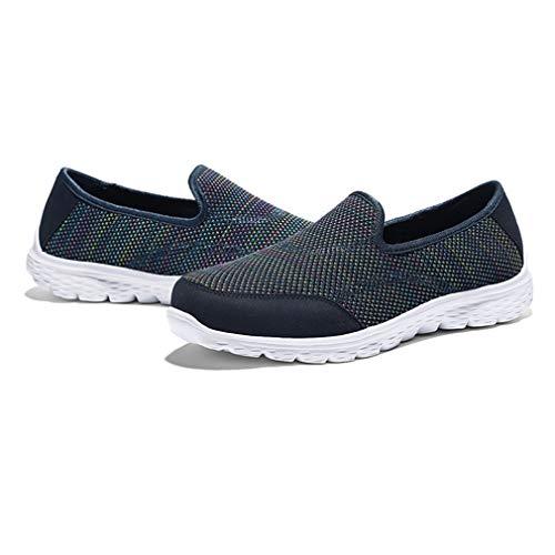 des pour sur Sport Hibote Femmes de Enfiler Marche Bleu légères Chaussures de décontractées à Chaussures et EqwPwvtx