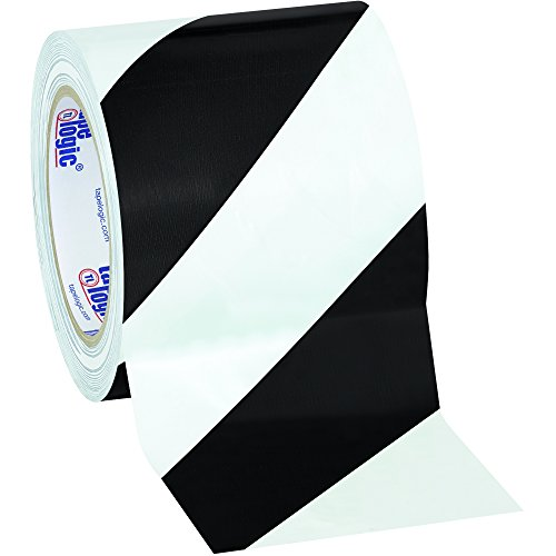 Aviditi Heavy Duty Striped Vinyl Safety Tape, 36 yds. x 4