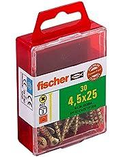 Fischer Power-F 659244 houtbouwschroef Verzonken kop 4,5x25 Gelbverzinkt