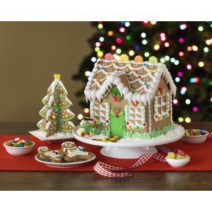Amazoncom OrbitGingerBread House Kit With Tree  Kit - Gingerbread house garage