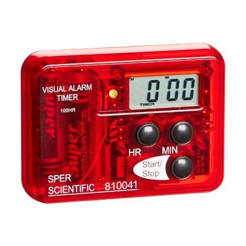 Sper Scientific 810041 Compact Visual and Audible Alarm Timer, 99 hours Range