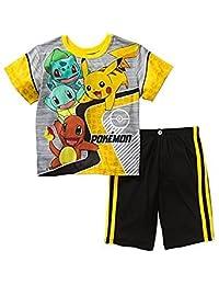 Pokemon Boys 2 Piece Shorts Poly Pajama Set