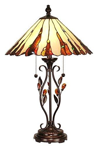 (Dale Tiffany TT90178 Ripley Table Lamp, Antique Golden, 18