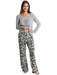 womens pajama pant set long sleeve sleep shirt pj lounge bottoms