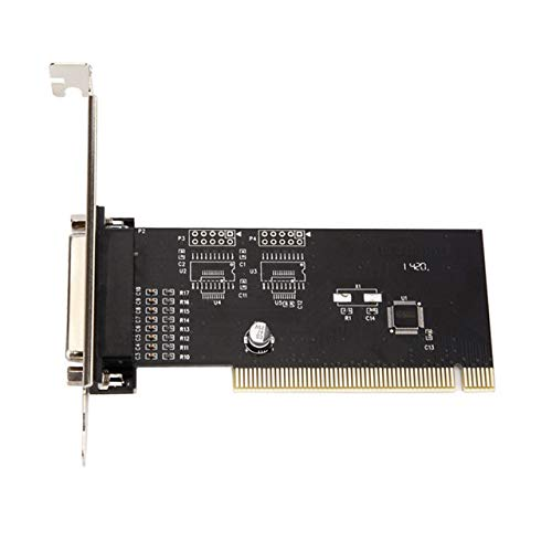 Computer Consumables Pci To Parallel Port Card Pci To 25 Holes Pci To Print Port Pci Parallel Port Card (Black…
