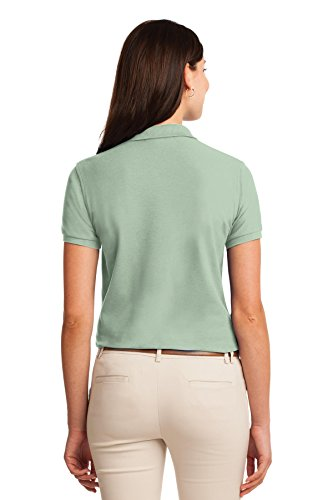 Port Authority Ladies Silk Touch Polo. L500 Mint Green 1CagwGme