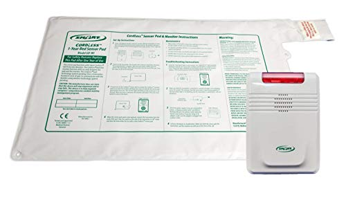 Smart Caregiver Wireless Bed Alarm Alert - 20 by 30 Inch Pad