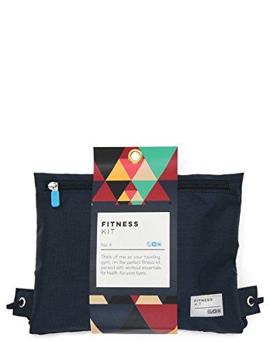 1 Fitness Travel Kit (Flight 001 Travel Fitness Kit Gym Bag, Navy, One Size)