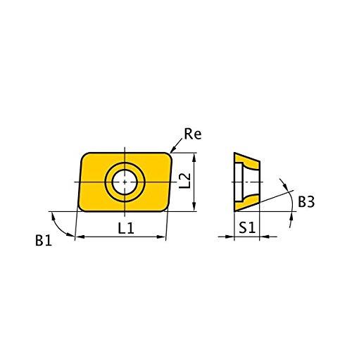 Parallelogram 85/° 0.156 Thick Pack of 10 Round Honing Mitsubishi Materials AEMW19T3125ER UTi20T Uncoated Carbide Milling Insert Class M 0.125 Corner Radius