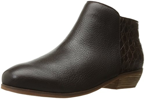 Softwalk Women's Rocklin Boot, Dark Brown Crocodile, 9.5 W US by SoftWalk