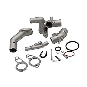 Docooler Cast Aluminum Coolant Flange Upgrade Kits for VW MK4 Golf Jetta GLI GTI TT 337 1.8T