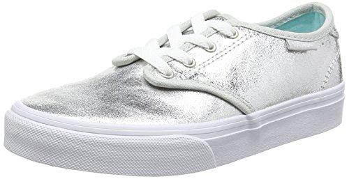 Vans Mädchen Camden Low top, Silber (metallicSilver) 34 EU